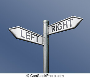 road sign left right equal choice - left right road sign...