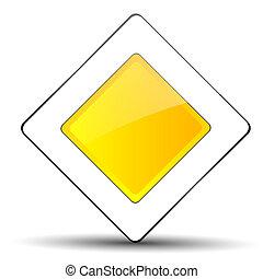 Road sign - main road