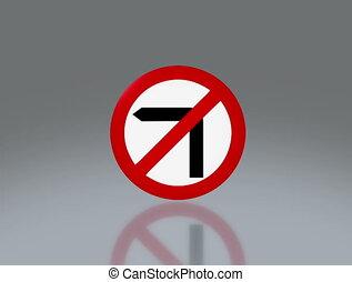 road sign no turn left 4K