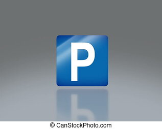 road sign parking 4K - the notice of traffic sign for...