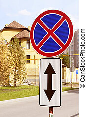 Road sign Parking