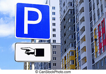 "Road sign ""Parking"""