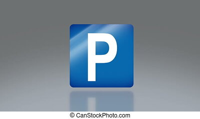 road sign parking - the notice of traffic sign for...