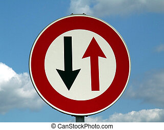 Road sign - Reverse motion