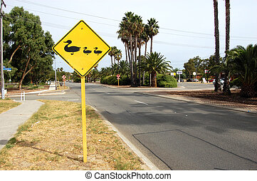 Road sign - Road near city center, Perth, Western Australia