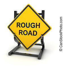 Road sign - rough road - Road sign - rought road , This is a...