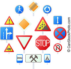 Road Sign Set icons