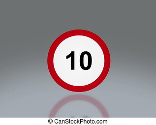 road sign Speed up 4K - the notice of traffic sign for...