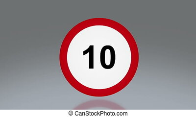 road sign Speed up - the notice of traffic sign for...