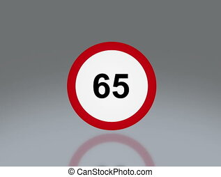 road sign speeding 4K - the notice of traffic sign for...