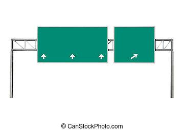 Road sign - Highway road sign