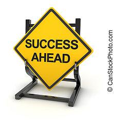 Road sign - success ahead