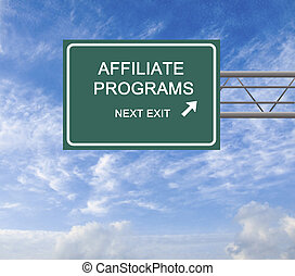 Road Sign to Affiliate Programs
