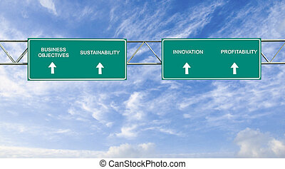 road sign to business objectives