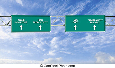 road sign to cloud computing