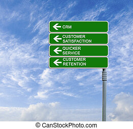 Road sign to CRM
