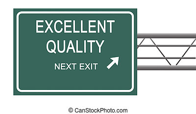 Road sign to excellent quality