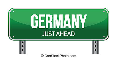 Road sign to Germany