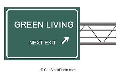 Road sign to green living