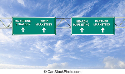 Road sign to marketing strategy