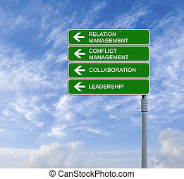 Road sign to relation management