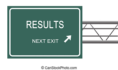 Road sign to results