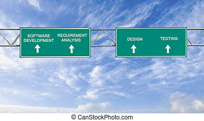road sign to software development