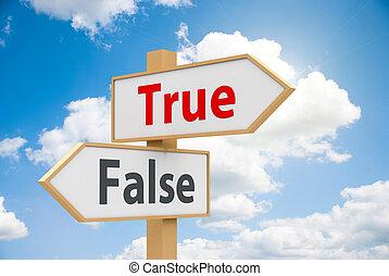 Road sign True or False