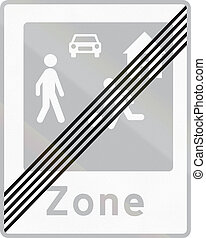 Road sign used in Denmark - End of residential area