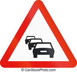 Road sign used in Spain - Congestion