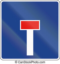 Road sign used in Spain - Dead end