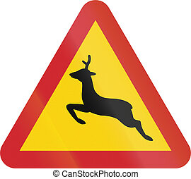 Road sign used in Sweden - Deer