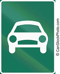 Road sign used in Sweden - Expressway