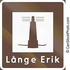 Road sign used in Sweden - Landmark