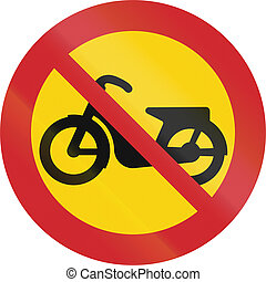 Road sign used in Sweden - No mopeds
