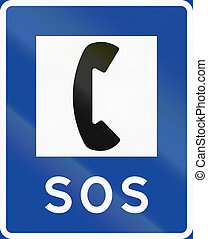 Road sign used in Sweden - Telephone