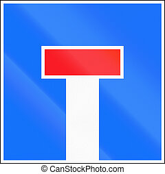 Road sign used in Switzerland - Dead end