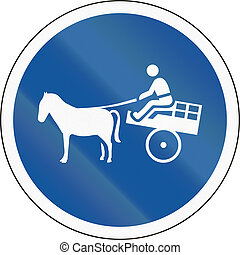Road sign used in the African country of Botswana - Animal-drawn vehicles only