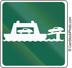 Road sign used in the US state of Washington - Car ferry
