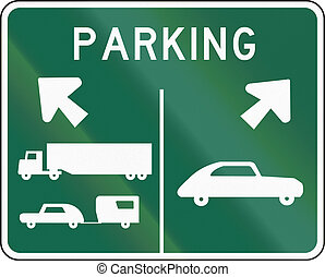 Road sign used in the US state of Washington - Parking.