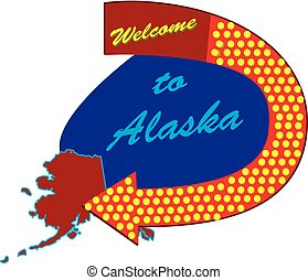 Road sign Welcome to Alaska