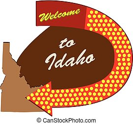 Road sign Welcome to Idaho