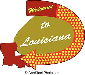 Road sign Welcome to Louisiana