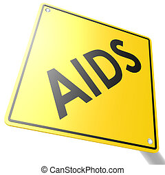 Road sign with AIDS
