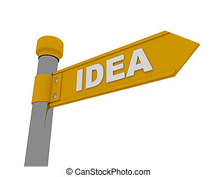 road sign with signature IDEA