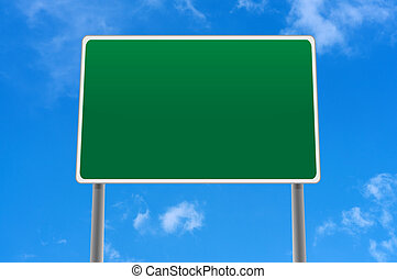 Road sign with space for text