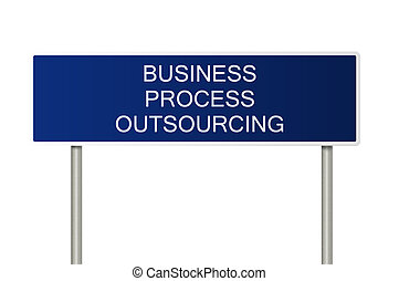 Road sign with text Business Process Outsourcing
