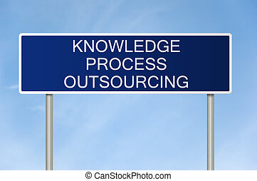 Road sign with text Knowledge Process Outsourcing