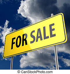 road sign with words for sale