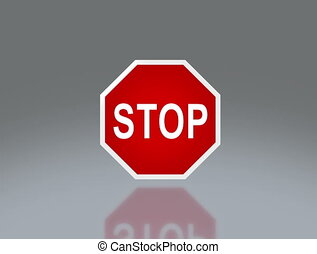 road signage stop 4K - the notice of traffic sign for...